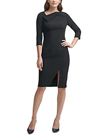 Asymmetrical Sheath Dress