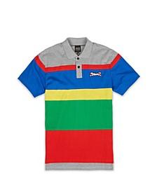 Men's Colorblock Stripe Polo T-shirt