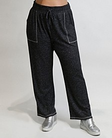 Women's Plus Size Cozy Contrast Stitch Pant