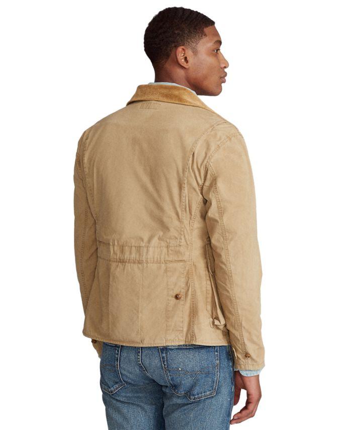 Polo Ralph Lauren Men's Shearling-Patch Wading Jacket & Reviews - Coats & Jackets - Men - Macy's
