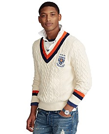 Men's Shield-Patch Cricket Sweater