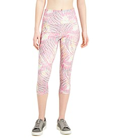 Tropical-Print Pocket Cropped Leggings, Created for Macy's