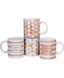11 oz Love Inspirational Coffee Mugs, Set of 4