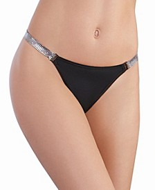 Women's Microfiber G-String with Chainmail Hip Strap