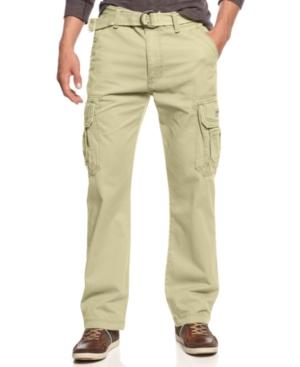 Unionbay Men's Survivor Belted Cargo Pants