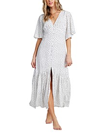 Juniors' Kiss The Rain Midi Dress