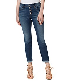 Arrow Straight Button-Fly Ankle Jeans