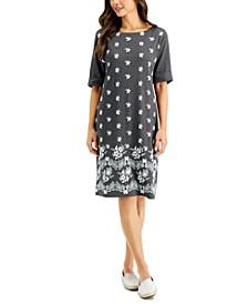 Petite Printed T-Shirt Dress, Created for Macy's