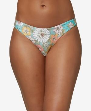 O'neill Juniors' Nazare Wildflower Printed Bikini Bottoms Women's Swimsuit In Sea Glass