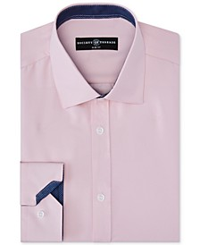 Men's Slim-Fit Non-Iron Stretch Solid Dress Shirt