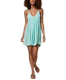 Juniors' Salt Water Solids Cover-Up Dress