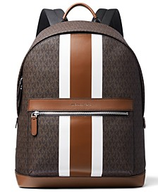 Men's Faux-Leather Varsity Stripe Backpack