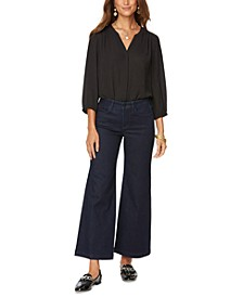 The Teresa Wide-Leg Ankle Jeans