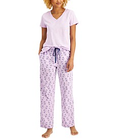 Matching T-shirt & Pants Pajama Separates, Created for Macy's