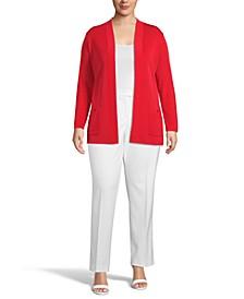 Plus Size Malibu Open-Front Cardigan