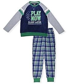 Big Boys Fleece Pajama Set, 2 Piece