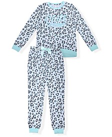 Big Girls Animal Print Pajama Set, 2 Piece