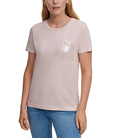 Sequin-Pocket T-Shirt