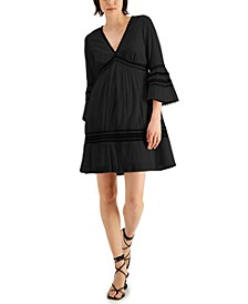 INC Lace-Trim Bell-Sleeve Dress, Created for Macy's