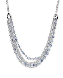 """Link & Beaded Multi-Chain Statement Necklace, 30"""" + 3"""" extender, Created for Macy's"""