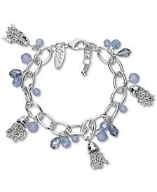 Multi-Bead & Chain Tassel Charm Link Bracelet, Created for Macy's