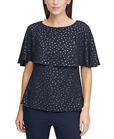 Patterned Cape Top