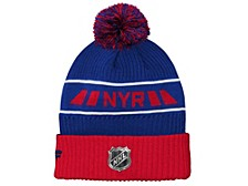 Youth New York Rangers 2020 Rinkside Pom Knit Hat