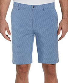 Men's Herringbone Print Shorts