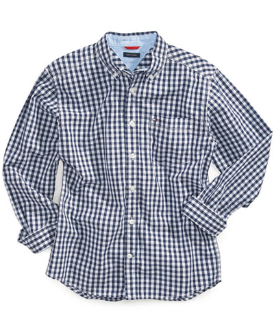 tommy hilfiger boys 39 gingham buttondown cotton shirt. Black Bedroom Furniture Sets. Home Design Ideas