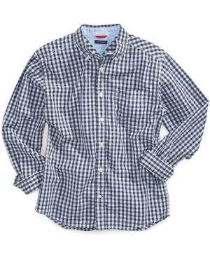 Tommy Hilfiger Gingham Buttondown Cotton Shirt Big Boys (820)