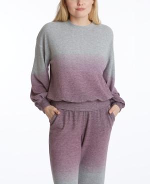 Women's Long Sleeve Balloon Sleeve Pullover Sweatshirt