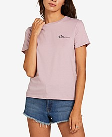 Juniors' Crewneck Cotton T-Shirt