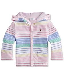 Ralph Lauren Baby Girls Striped Cotton Hooded Jacket
