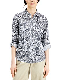 Printed Tab Shirt, Created for Macy's