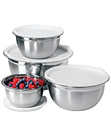Stainless Steel Food Storage Bowls with Lids, Set of 4