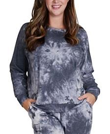 Women's Plus Size Tie Dye Raglan Sweatshirt