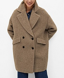Women's Textured Wrap Coat