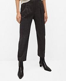 Women's Pleat Textured Pants
