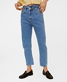 Women's Waist Straight Slouchy Jeans