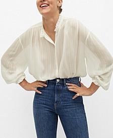 Women's Sheer Striped Blouse