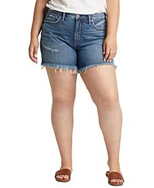 Trendy Plus Size Not Your Boyfriend Denim Shorts