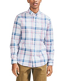 Men's Classic Fit Button-Down Plaid Shirt