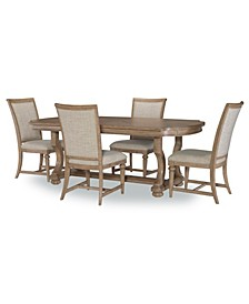 Camden Heights 5 Pc. Dining Set (Dining Table & 4 Side Chairs), Created for Macy's