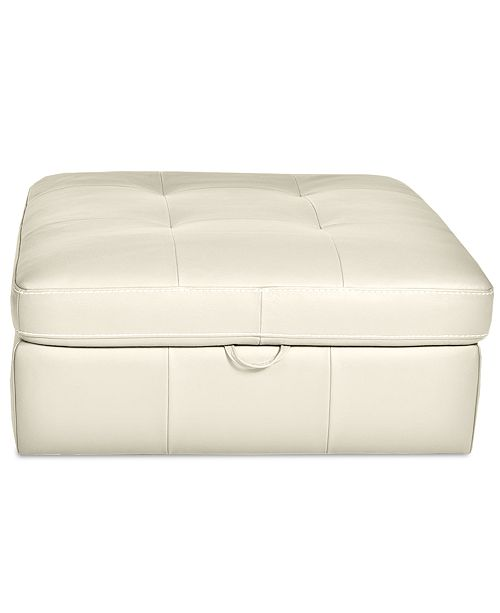 leather amp co faux temple storage webster ottoman chester rawson