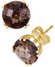 Smoky Quartz Stud Earrings (3 ct. t.w.) in 14k Gold