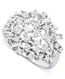 Diamond Scatter Cluster Ring (1 ct. t.w.) in 14k White Gold
