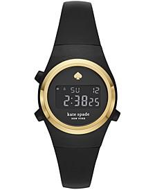 Rumsey Digital Black Silicone Strap Watch 32mm