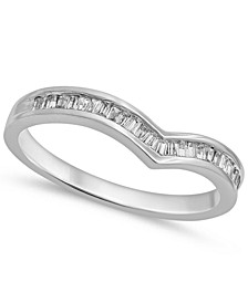 Baguette Chevron Ring (1/7 ct. t.w.) in 14k White Gold