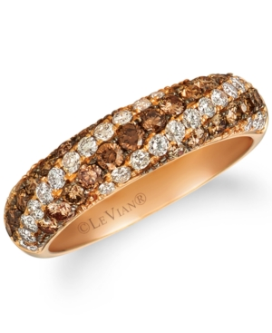 Chocolate Ombre Diamond Statement Ring (1-1/5 ct. t.w.) in 14k Rose Gold