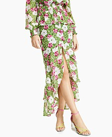 Floral-Print Tiered Ruffled Skirt, Created for Macy's